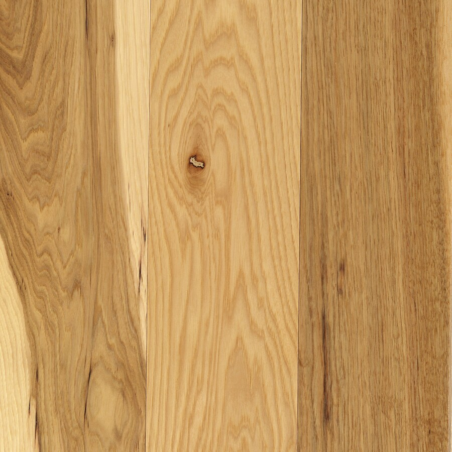 Shop mohawk hickory grove 5 in w prefinished hickory for Mohawk hardwood flooring