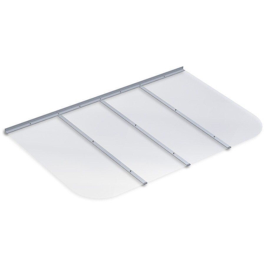 Ultra Protect 61-in x 38-in Clear Polycarbonate Rectangular Egress Basement Window Well Cover