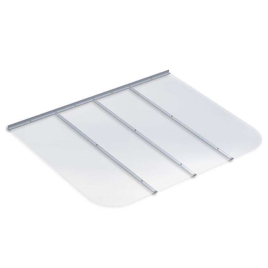 Ultra Protect 61-in x 48-in Clear Polycarbonate Rectangular Egress Basement Window Well Cover