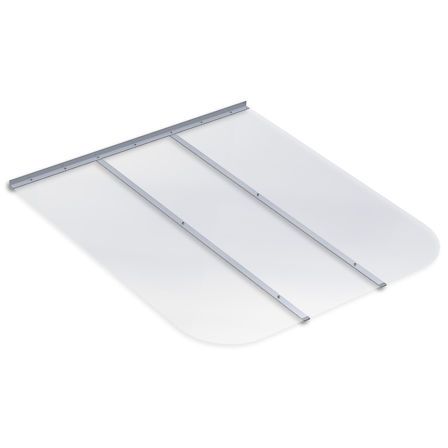 Ultra Protect 45-in x 50-in Clear Polycarbonate Rectangular Egress Basement Window Well Cover