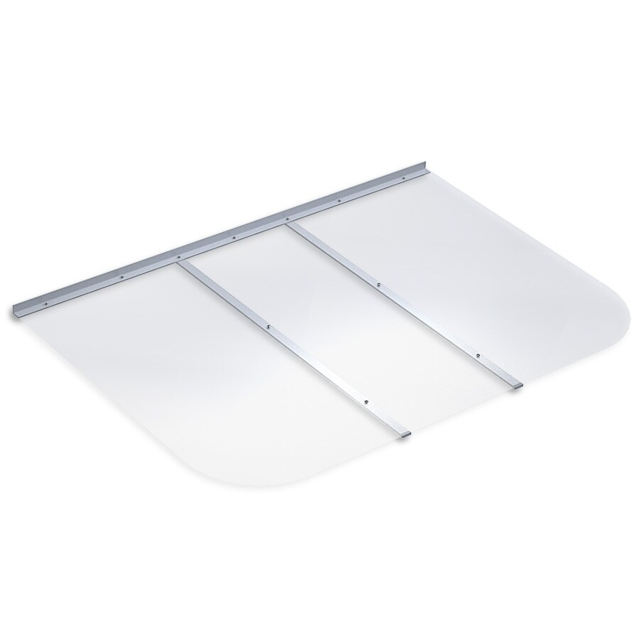 Ultra Protect 53-in x 37-in Clear Polycarbonate Rectangular Egress Basement Window Well Cover