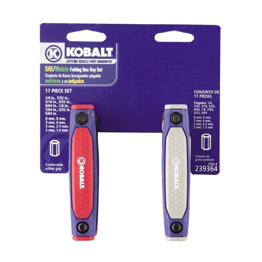 Kobalt 17-Piece Folding Flat End Hex Key Set
