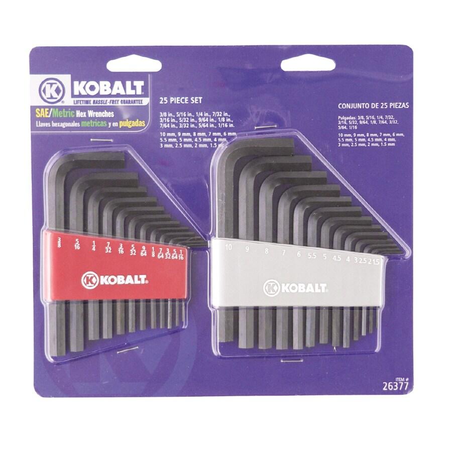 Kobalt 25-Piece Flat End Hex Key Set