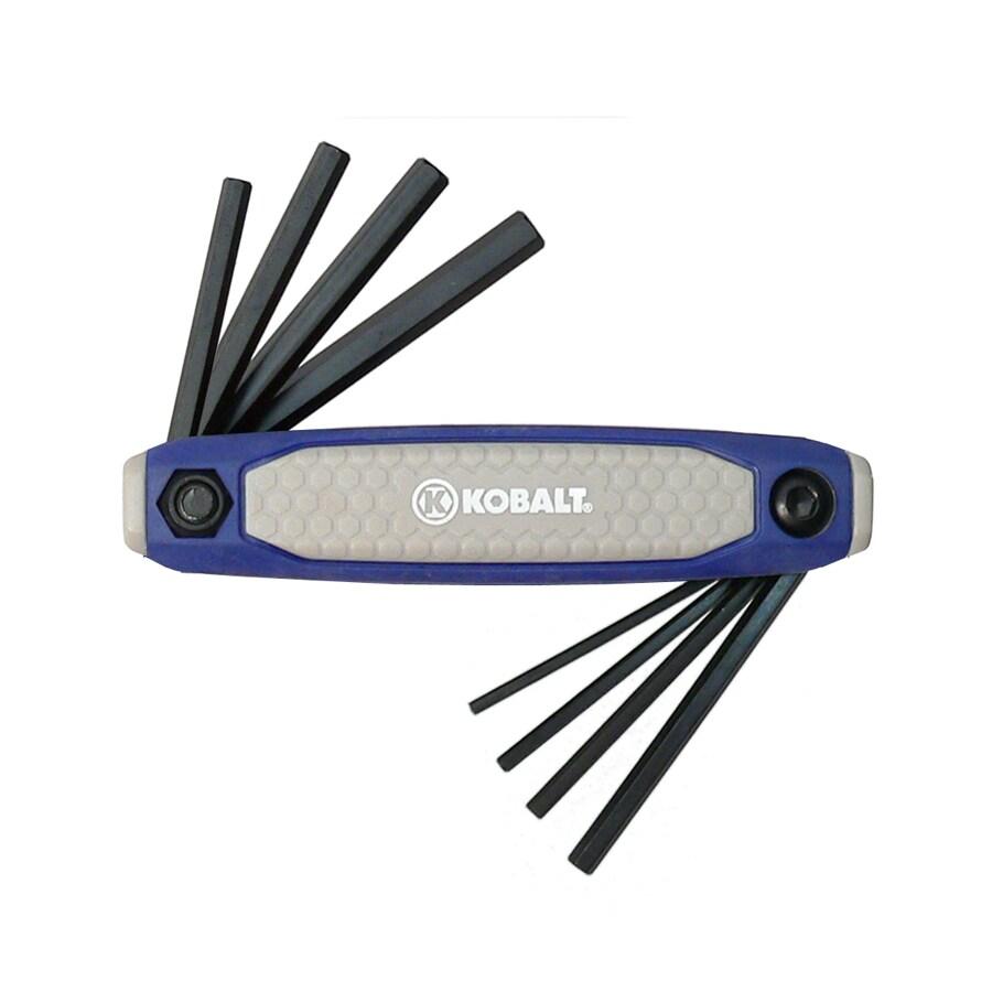Kobalt 8-Piece Folding Flat End Hex Key Set