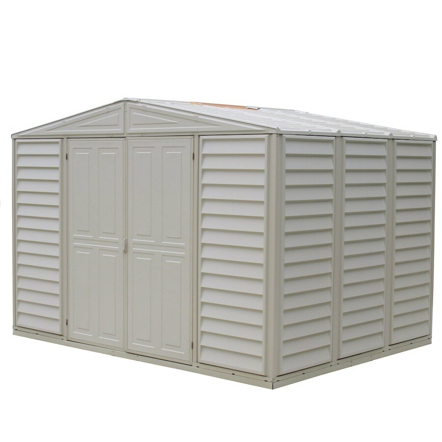Shop duramax building products storage shed common 10 ft for Lowes storage sheds