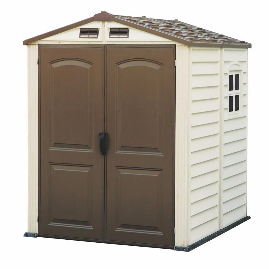 DuraMax Building Products Storage Shed (Common: 6-ft x 6-ft; Actual Interior Dimensions: 5.8-ft x 5.8-ft)