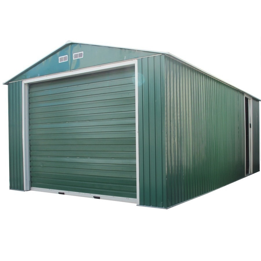DuraMax Building Products 12-ft x 20-ft Metal Single Car Garage Building