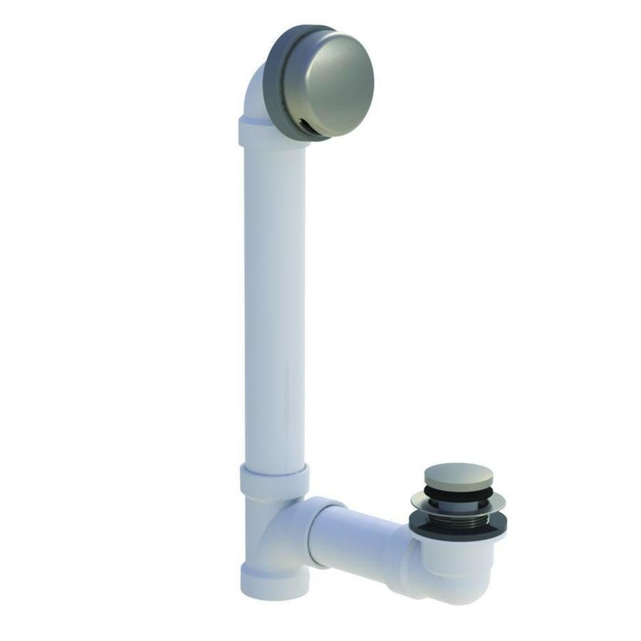 WATCO 1-1/2-in Brushed Nickel Foot Lock with PVC Pipe