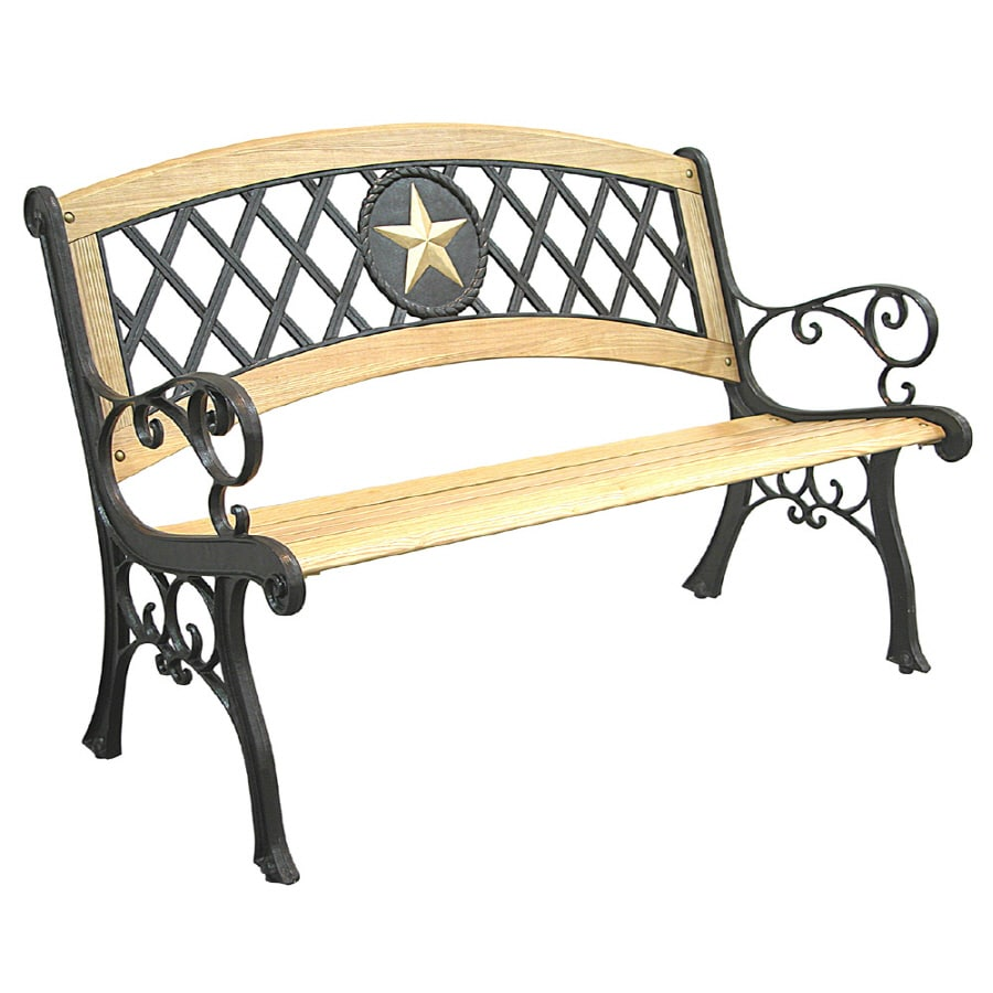 Texas star patio bench modern patio outdoor for Outdoor furniture benches