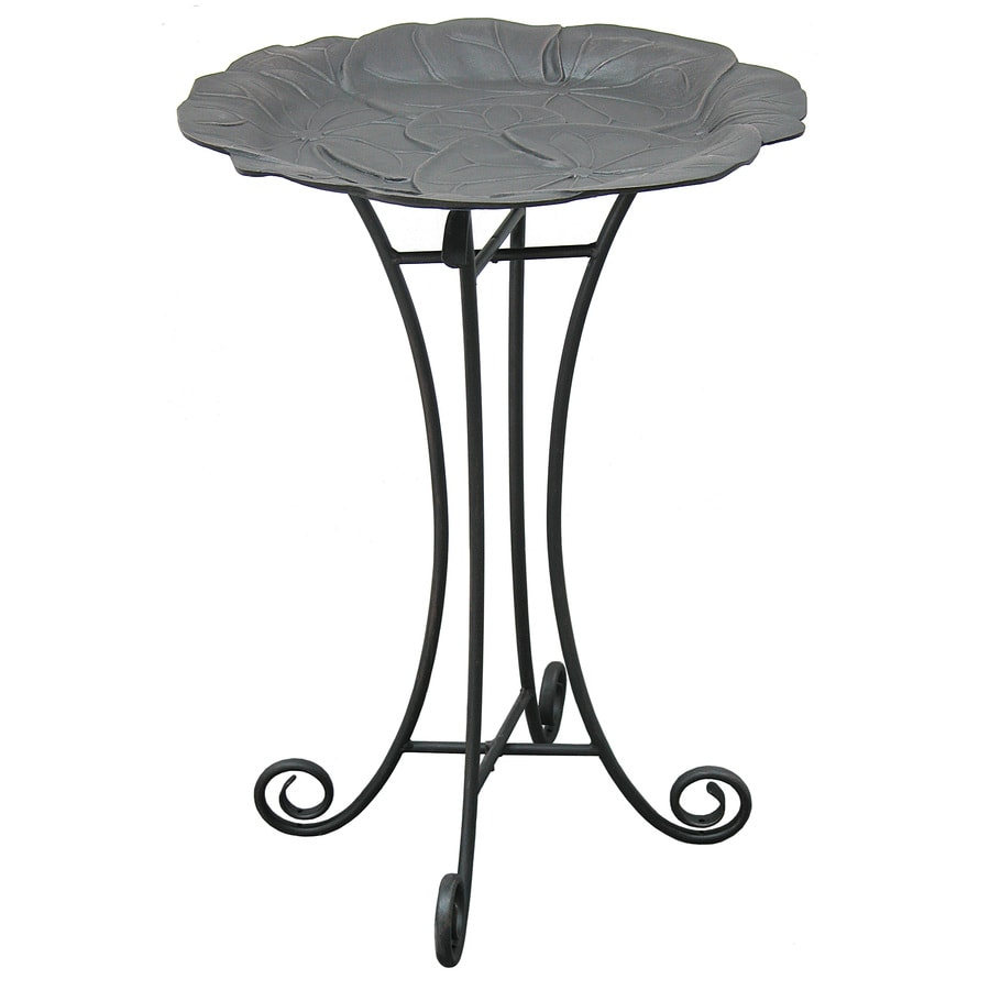 allen + roth 29-in 1-Tier Birdbath