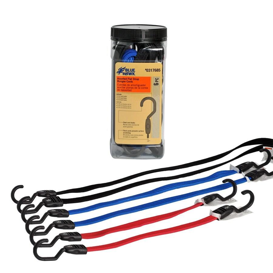 Blue Hawk 12-ft Rubber Core Steel Hook Bungee Cord