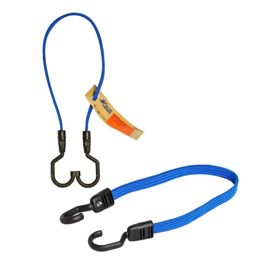 Blue Hawk 2-ft Rubber Core Steel Hook Bungee Cord