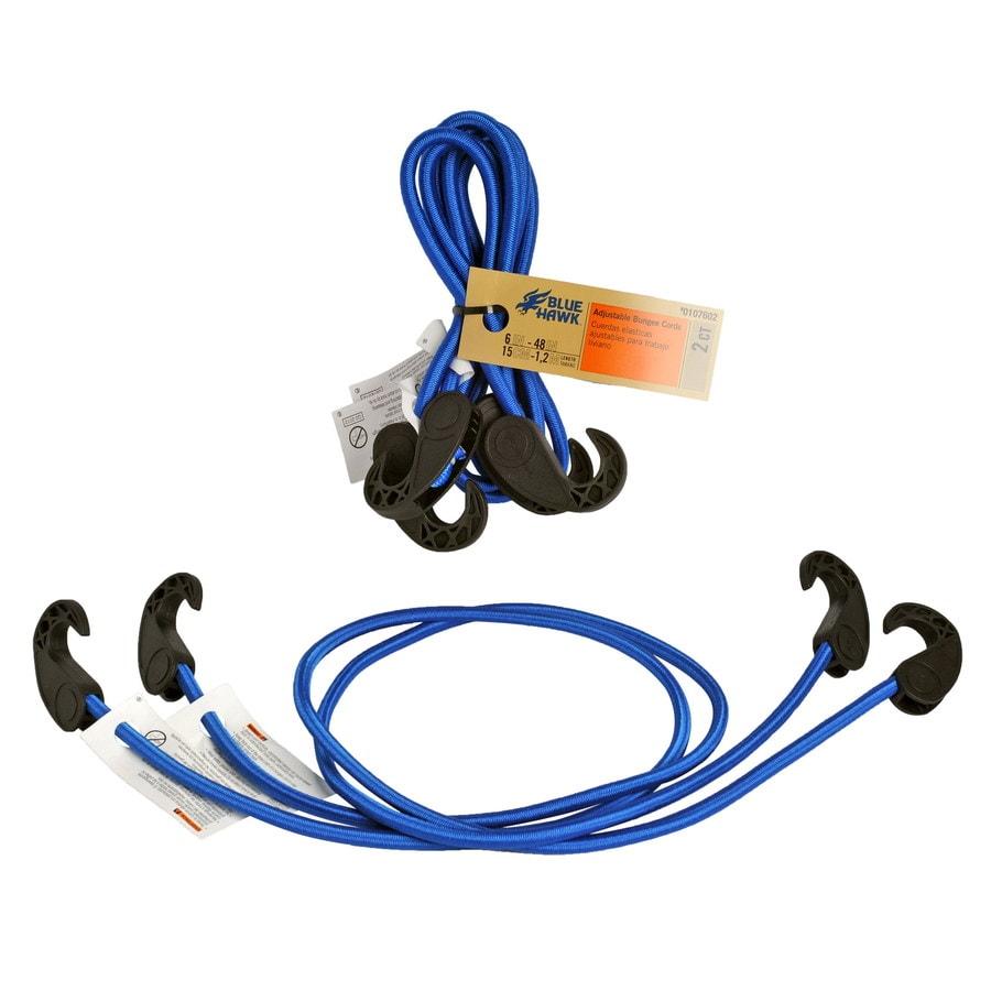 Blue Hawk 4-ft Rubber Core Plastic Hook Bungee Cord