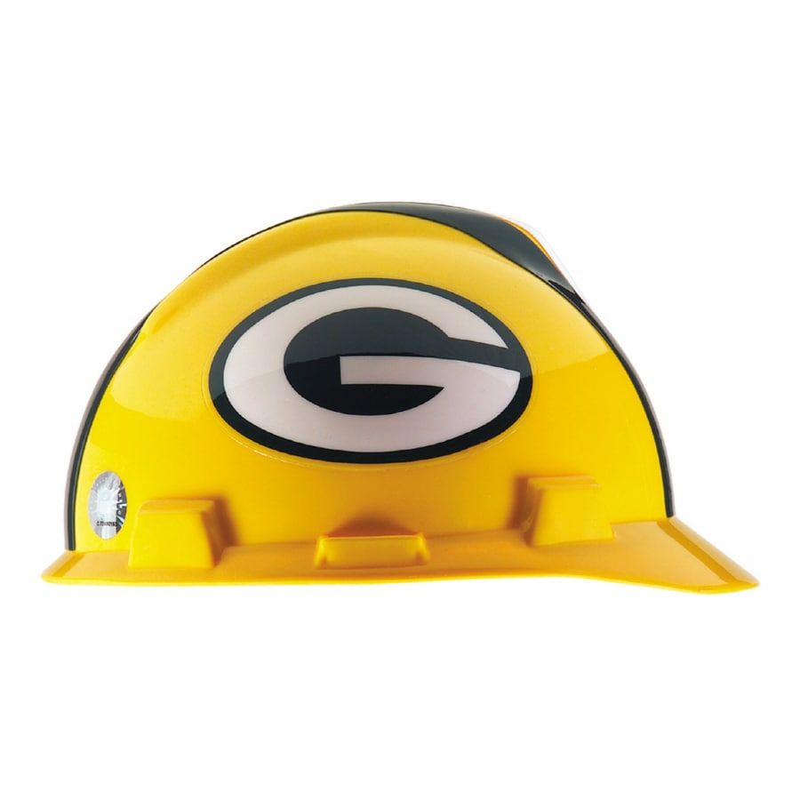 MSA Safety Works Standard Size Green Bay Packers NFL Hard Hat