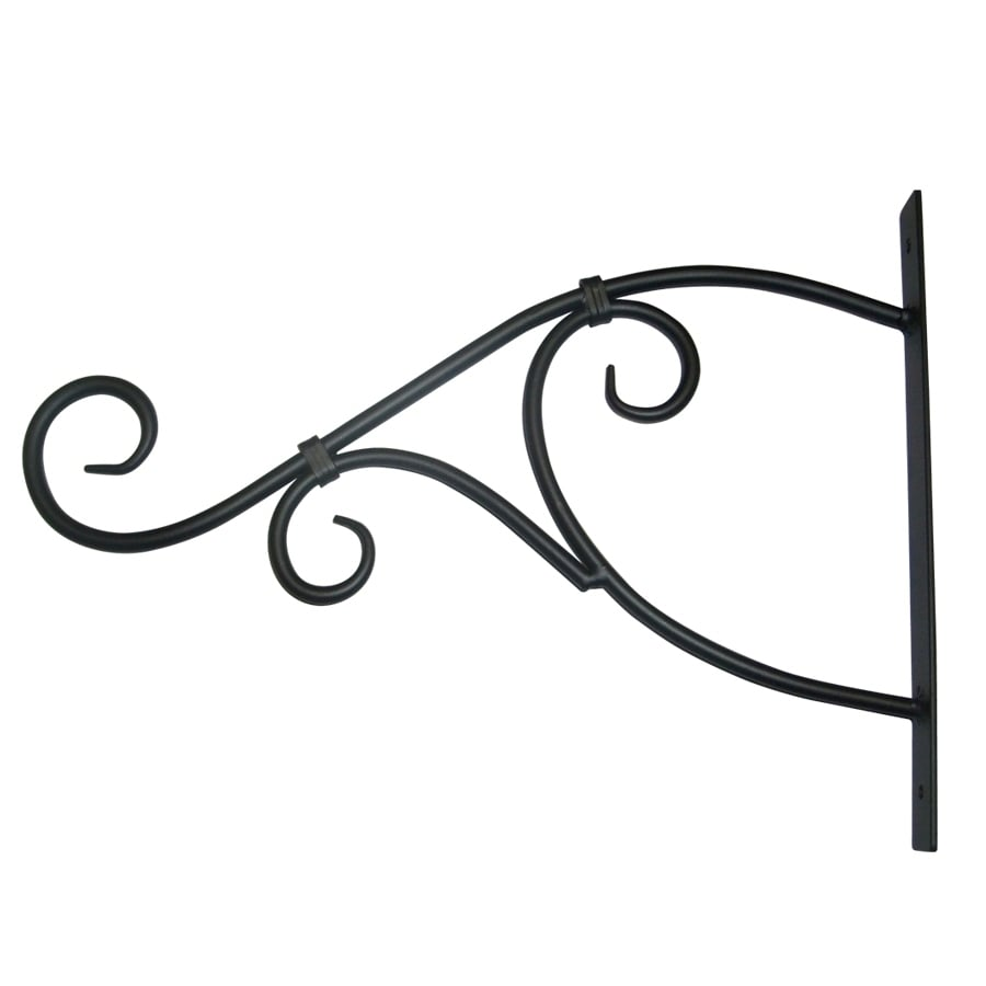 Patio Life 13.75-in Black Steel Traditional Plant Hook