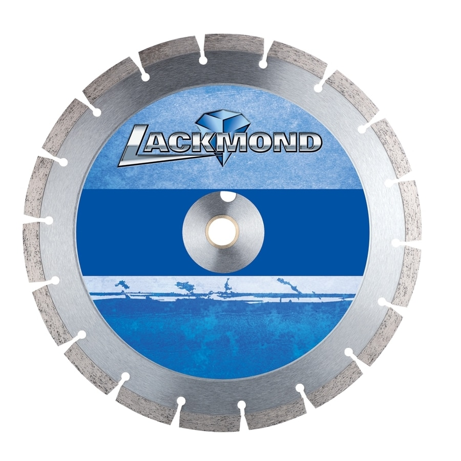 Lackmond 12-in 18-Tooth Wet or Dry Segmented Diamond-Tipped Steel Circular Saw Blade