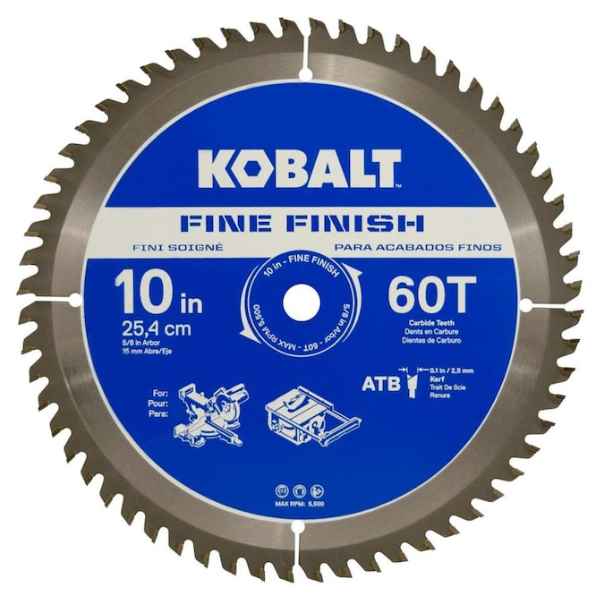 Kobalt 10 In 60 Tooth Segmented Carbide Circular Saw Blade In The Circular Saw Blades Department At Lowes Com