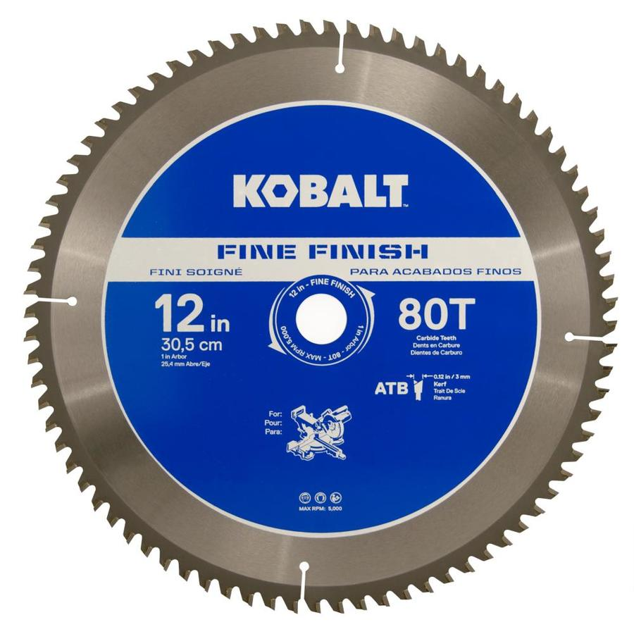 Kobalt 12-in 80-Tooth Segmented Carbide Circular Saw Blade