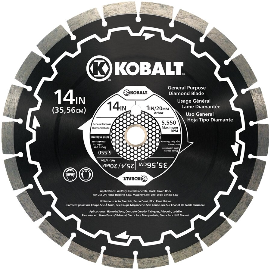 Kobalt 14-in 24-Tooth Wet or Dry Segmented Diamond-Tipped Steel Circular Saw Blade
