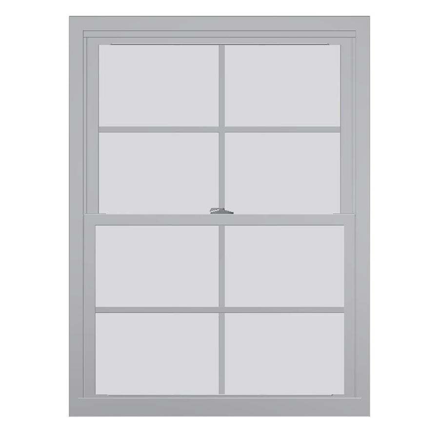 United Series 4800 4800 Series Vinyl Double Pane Single Strength Replacement Double Hung Window (Rough Opening: 28-in x 38-in; Actual: 27.75-in x 37.5-in)