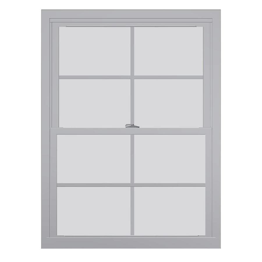 United Series 4800 4800 Series Vinyl Double Pane Single Strength Replacement Double Hung Window (Rough Opening: 28-in x 46-in; Actual: 27.75-in x 45.5-in)