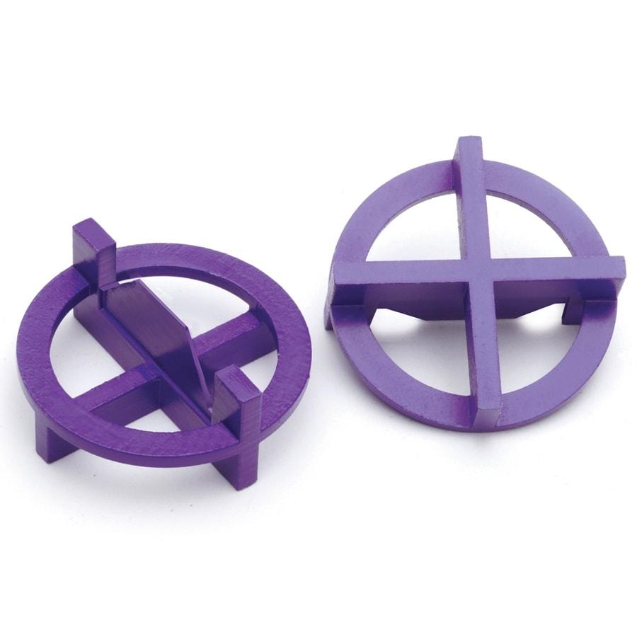 TAVY 100-Pack 1-in W x 1-in L 3/32-in Purple Plastic Tile Spacers