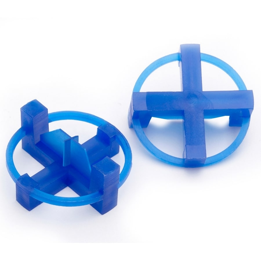 TAVY 100-Pack 1-in W x 1-in L 3/16-in Blue Plastic Tile Spacers