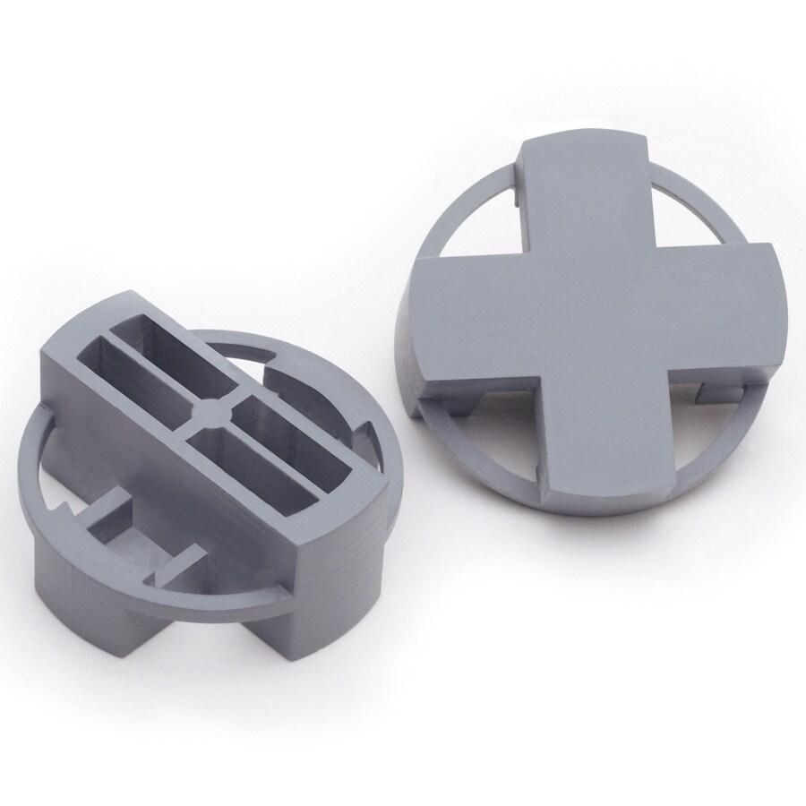 TAVY 100-Pack 1-in W x 1-in L 3/8-in Gray Plastic Tile Spacers