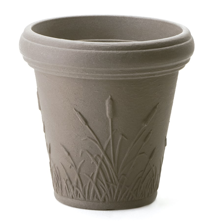 dotchi 15.9 in H x 16.5 in W x 16.5 in D Cappuccino Indoor/Outdoor Planter