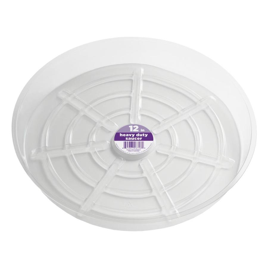 dotchi 12-in Clear Plastic Plant Saucer
