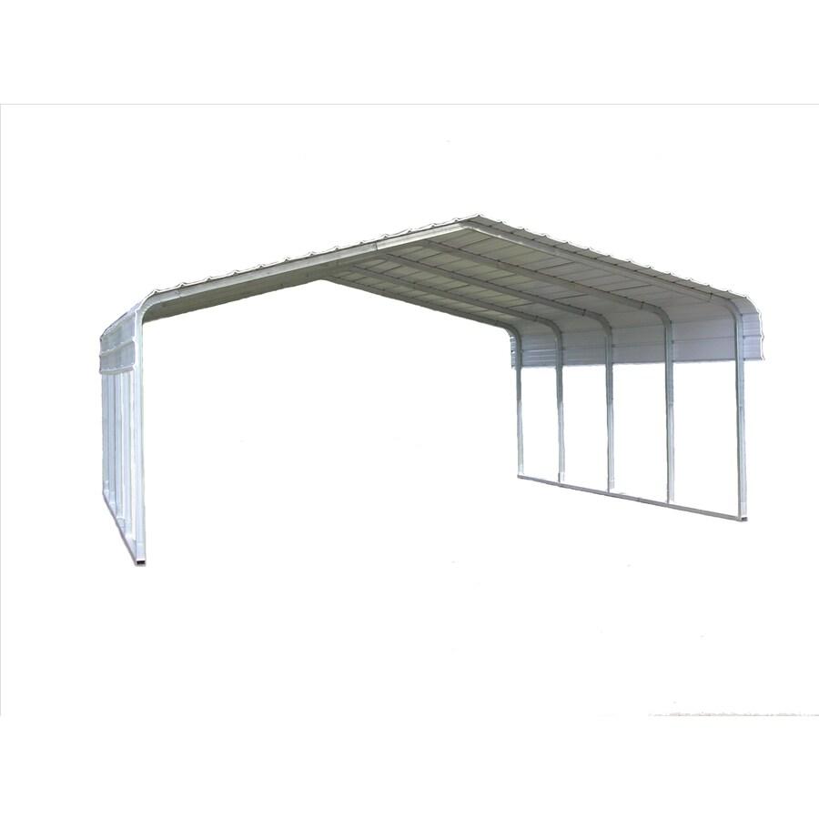 VersaTube 20-ft x 29-ft x 7-ft Silver Metal Metal 2-Car Carport