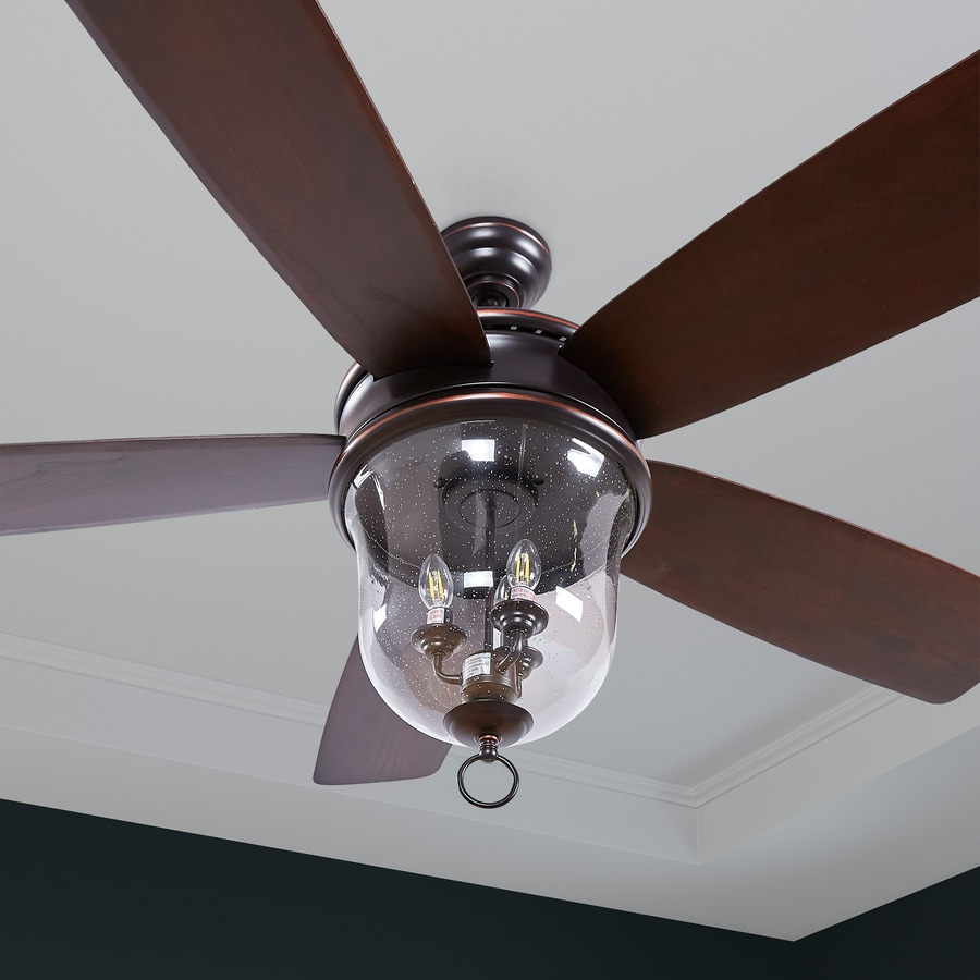 Craftmade FB60OBG5 Fredericksburg 60 Inch for Patio Walnut Blades Bronze Outdoor Ceiling Fan with Light and Remote