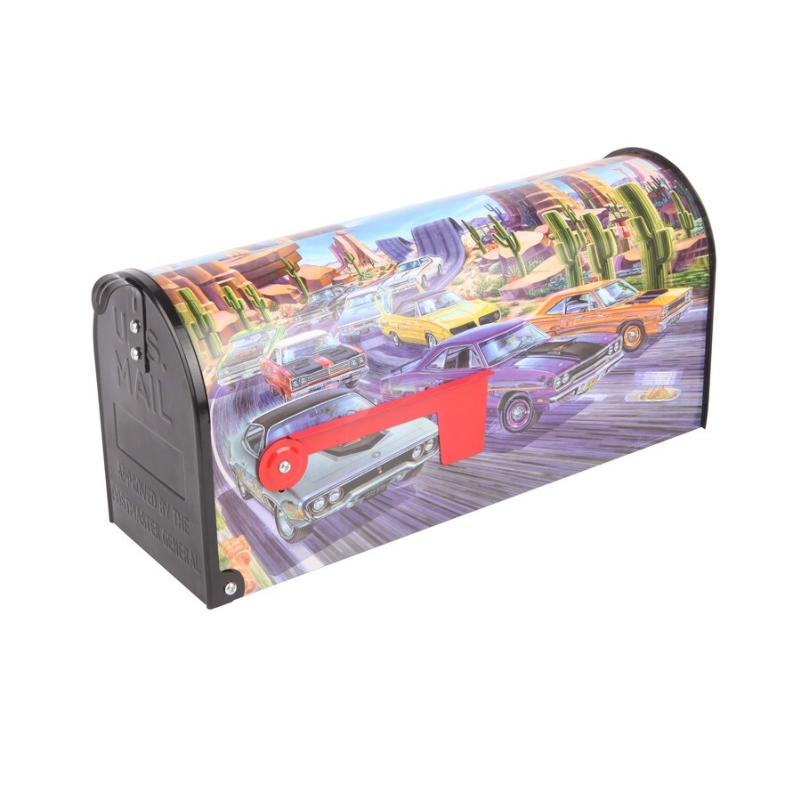 S.A.W. 7-in x 9-in Metal Beep Beep Post Mount Mailbox