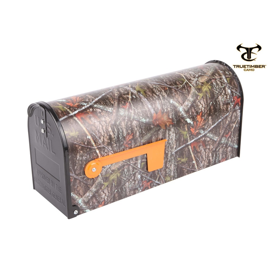 S.A.W. 7-in x 9-in Metal New Conceal Post Mount Mailbox