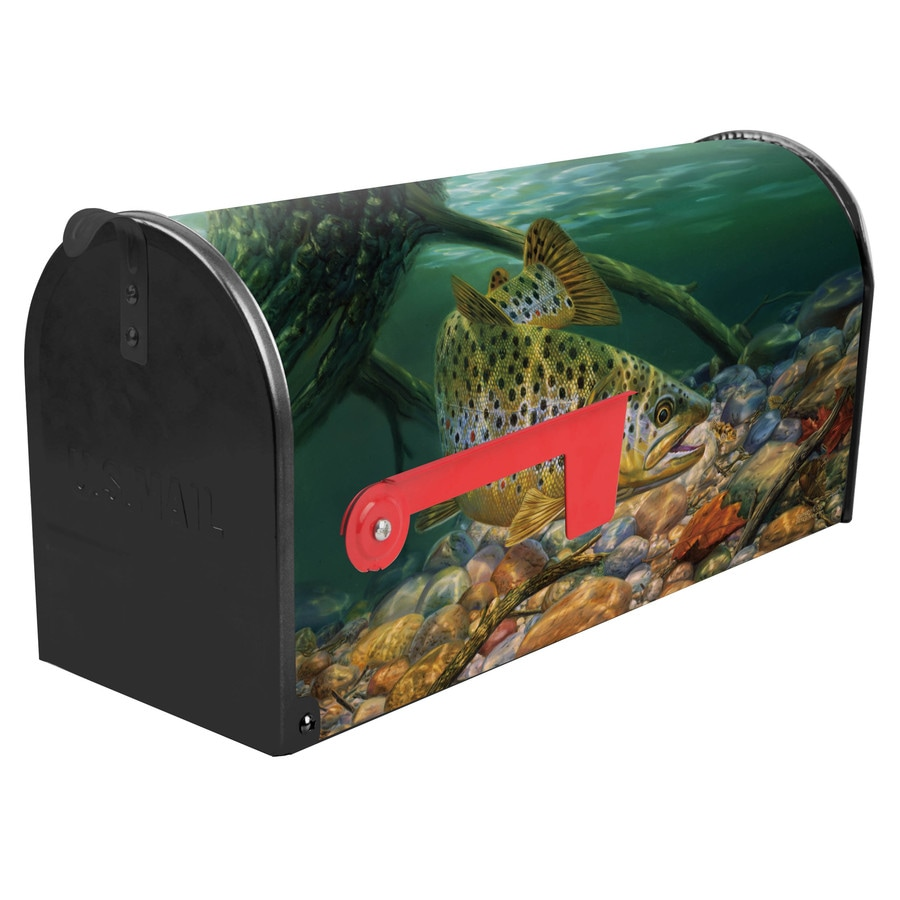 S.A.W. 7-in x 9-in Metal Brownsville Post Mount Mailbox