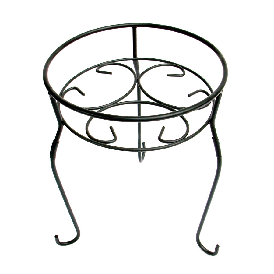 Garden Treasures 15-in Black Round Steel Plant Stand