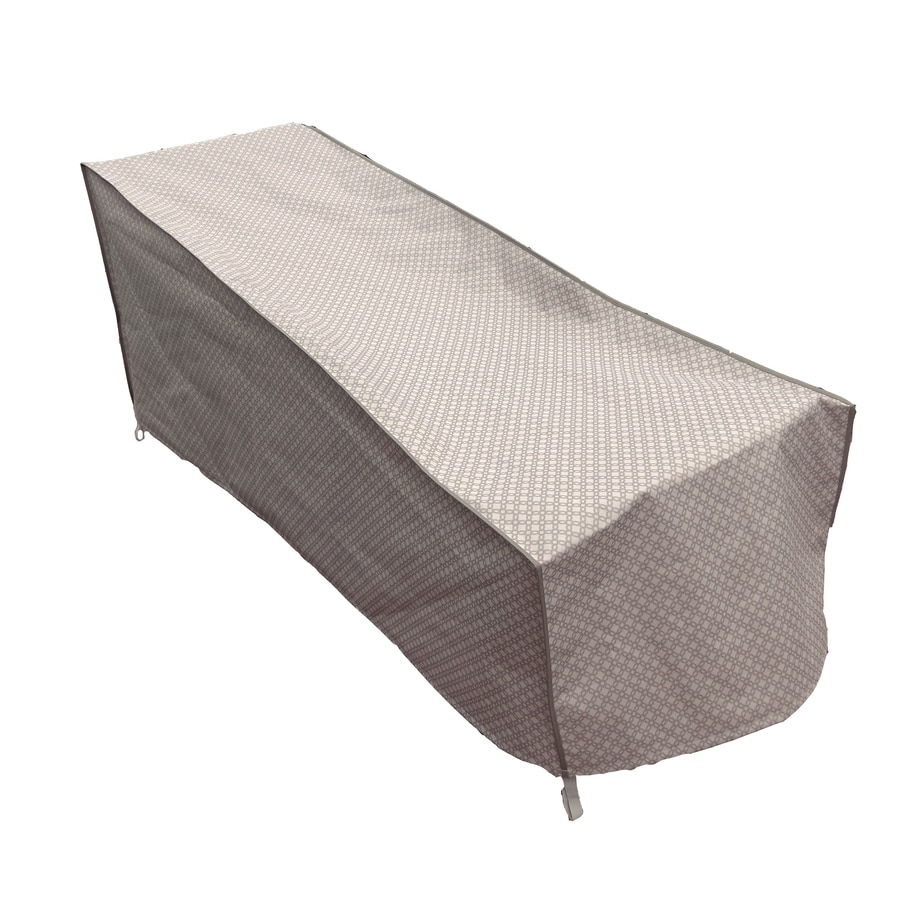 Shop allen roth allen roth trellis pattern polyester for Chaise covers outdoor furniture