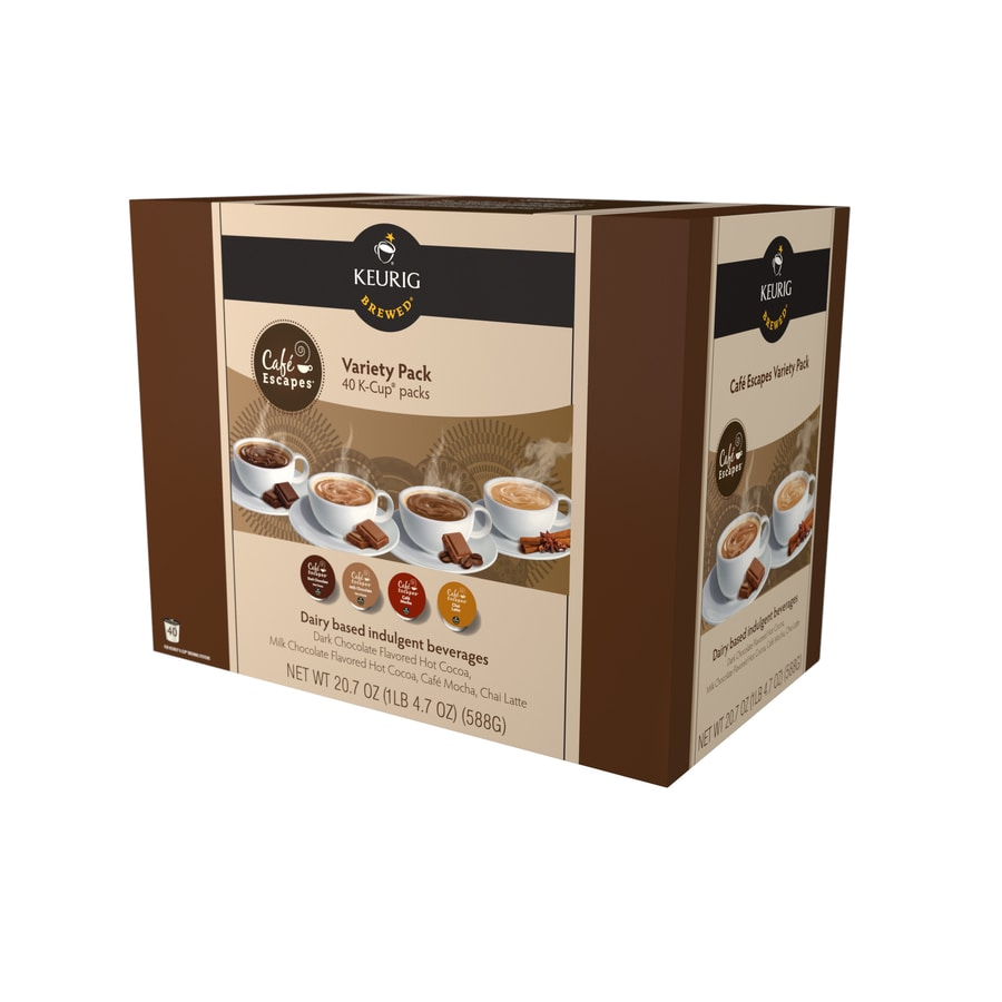 Keurig 40-Pack Cafe Escapes Single-Serve Hot Cocoa K-Cup Variety Pack