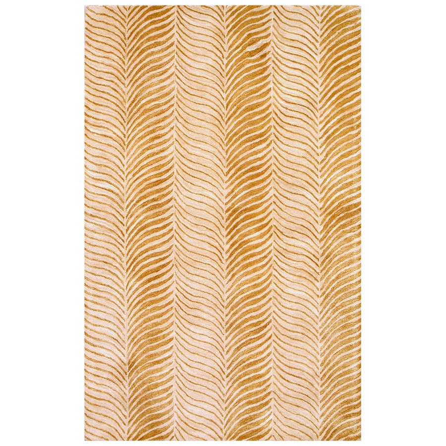 Bashian Charlton Rectangular Cream Transitional Tufted Wool Area Rug (Common: 6-ft x 9-ft; Actual: 5.5-ft x 8.5-ft)