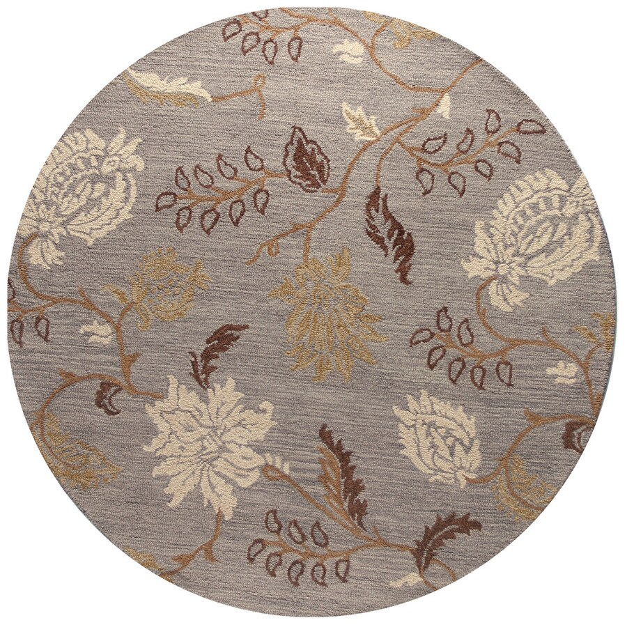 Bashian Stockport Round Indoor Tufted Area Rug (Common: 6 x 6; Actual: 72-in W x 72-in L)