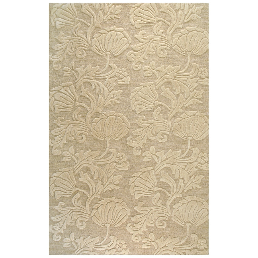 Bashian Portsmouth Rectangular Cream Transitional Tufted Wool Area Rug (Common: 8-ft x 10-ft; Actual: 7.75-ft x 9.75-ft)