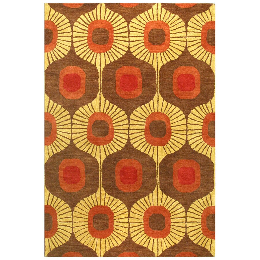 Bashian Ashland Rectangular Brown Transitional Tufted Wool Area Rug (Common: 5-ft x 8-ft; Actual: 5-ft x 7.5-ft)