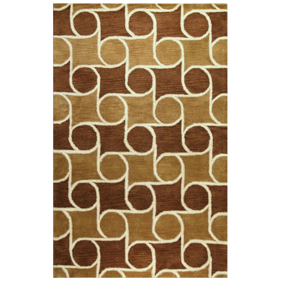 Bashian Ashland Rectangular Brown Transitional Tufted Wool Area Rug (Common: 9-ft x 12-ft; Actual: 8.5-ft x 11.5-ft)