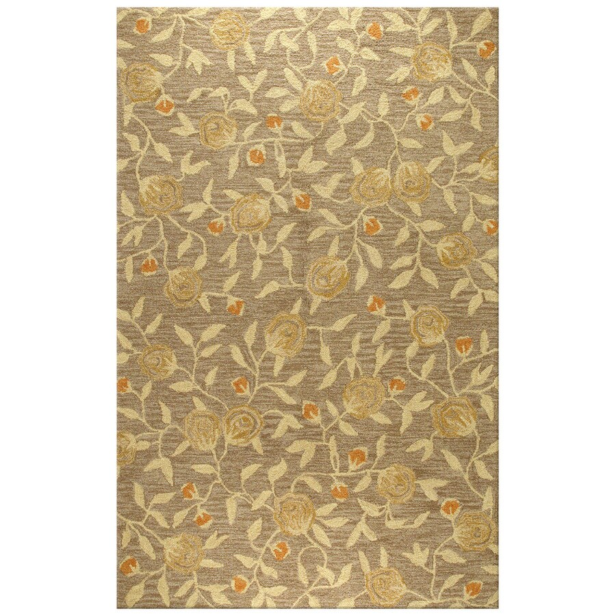 Bashian Stockport Rectangular Brown Floral Tufted Wool Area Rug (Common: 9-ft x 12-ft; Actual: 8.5-ft x 11.5-ft)