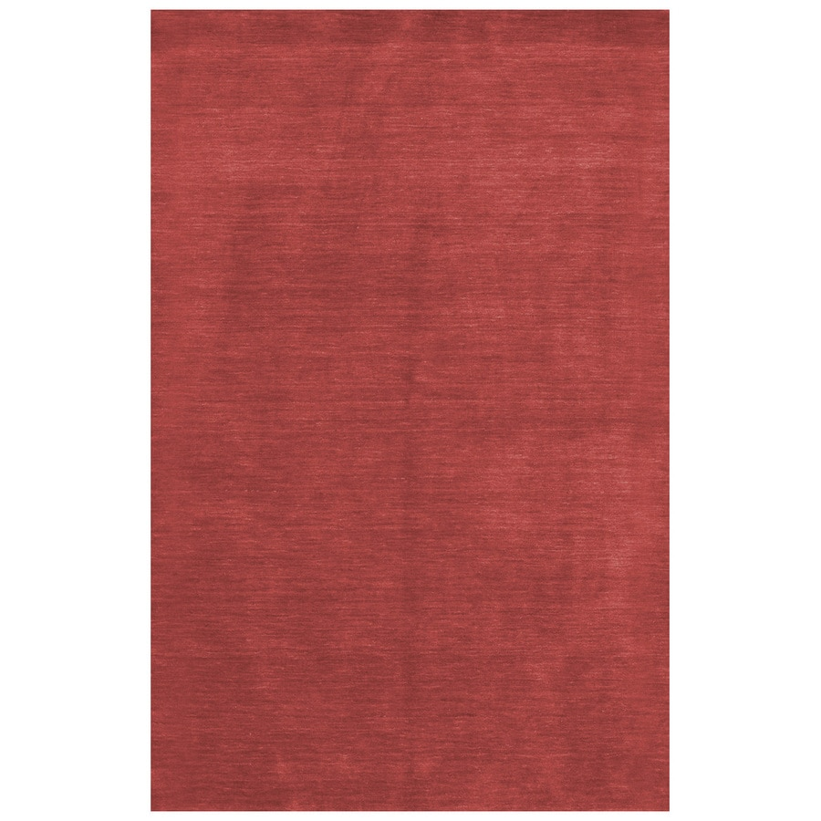 Bashian Fulham Rectangular Red Geometric Hand-Loomed Wool Area Rug (Common: 5-ft x 8-ft; Actual: 5-ft x 8-ft)