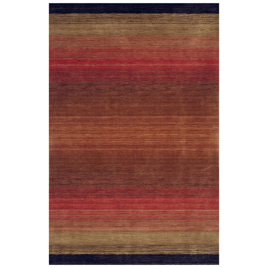 Bashian Fulham Rectangular Red Geometric Hand-Loomed Wool Area Rug (Common: 4-ft x 6-ft; Actual: 3.5-ft x 5.5-ft)