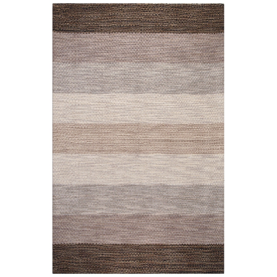 Bashian Fulham Rectangular Gray Geometric Hand-Loomed Wool Area Rug (Common: 4-ft x 6-ft; Actual: 3.5-ft x 5.5-ft)