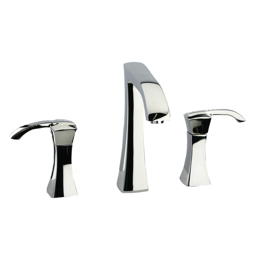 LaToscana Lady Polished Chrome 2-Handle Widespread WaterSense Bathroom Faucet (Drain Included)