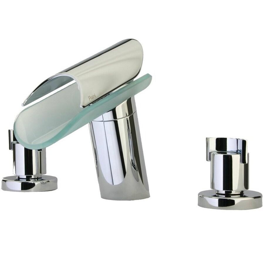 LaToscana Morgana Chrome 2-Handle Widespread WaterSense Bathroom Faucet (Drain Included)