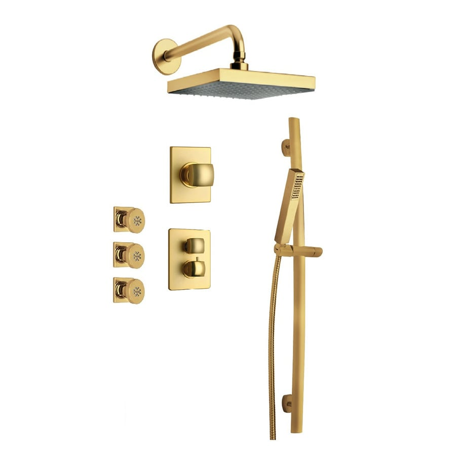 LaToscana Lady Satin Gold 2-Handle WaterSense Shower Faucet with Single Function Showerhead